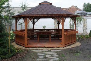 آلاچیق 6 ضلعی ، چوب با سقف شینگن