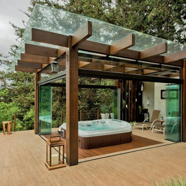 پرگولا با سقف شیشه ای