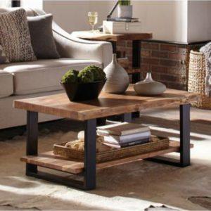 میز جلو مبلی ترکیب چوب و فلز