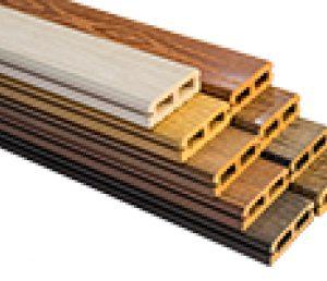 پروفیل چوب پلاست 2.5 سانت در 7 سانت تو خالی